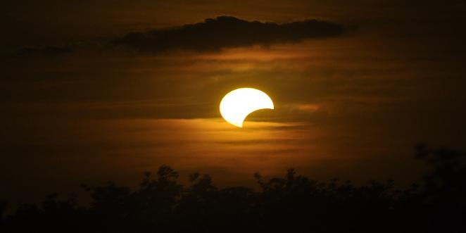 Partial solar eclipse Ireland